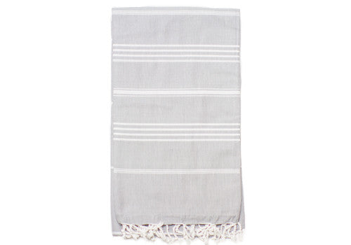 Fine Loom Sultan 260g Cotton Turkish Towel - Misty Grey | Room 2046 Toronto Canada