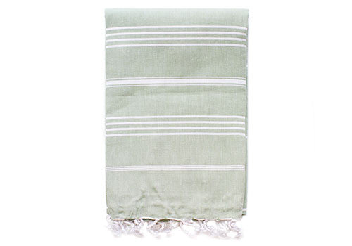 Fine Loom Sultan 260g Cotton Turkish Towel - Green Tea | Room 2046 Toronto Canada