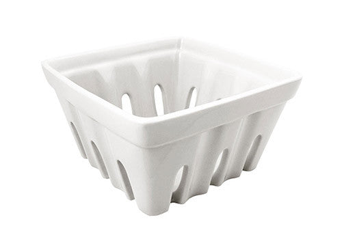 Fishs Eddy White Ceramic Berry Basket | Room 2046 Toronto Canada