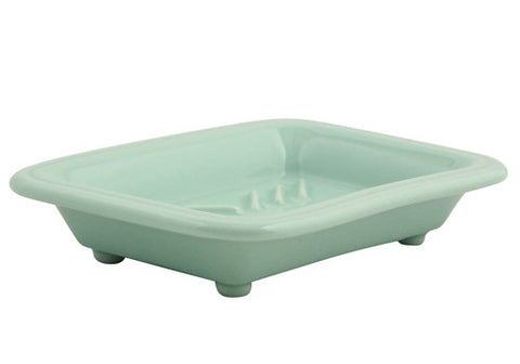 Fishs Eddy Ceramic Footed Soap Dish - Mint | Room 2046 Toronto Canada