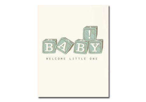 Flakes Paperie Baby Blocks Card | Room 2046 Toronto Canada