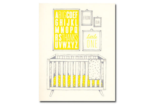 Flakes Paperie Thanks from Baby Card | Room 2046 Toronto Canada