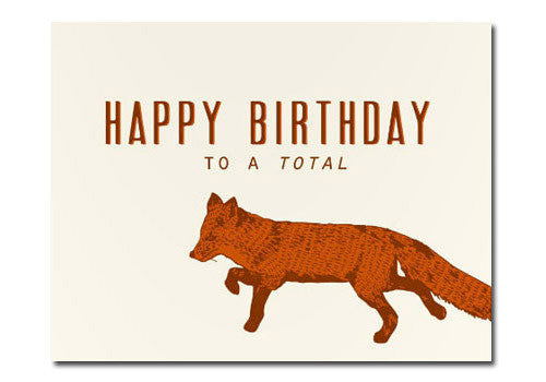 Flakes Paperie Birthday Fox Card | Room 2046 Toronto Canada