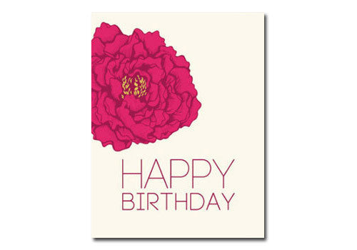 Flakes Paperie Birthday Peony Card | Room 2046 Toronto Canada