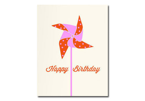 Flakes Paperie Birthday Pinwheel Card | Room 2046 Toronto Canada