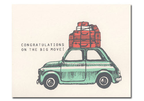 Flakes Paperie Congratulations on the Big Move Card | Room 2046 Toronto Canada