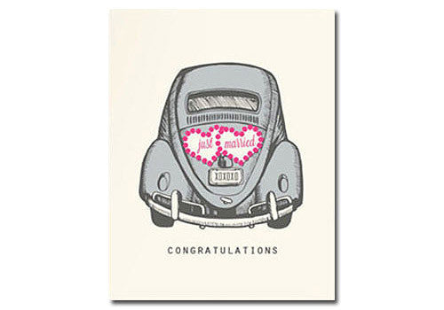 Flakes Paperie Wedding Just Married Card | Room 2046 Toronto Canada