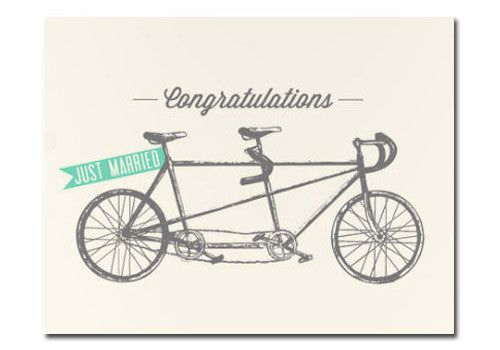 Flakes Paperie Wedding Tandem Bike Card | Room 2046 Toronto Canada