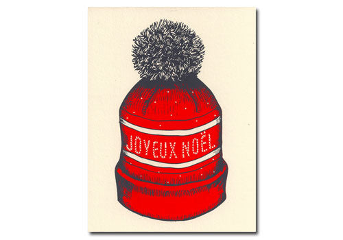 Flakes Paperie Joyeux Noel Toque Holiday Card | Room 2046 Toronto Canada