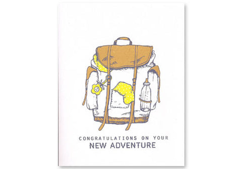 Flakes Paperie Baby New Adventure Card