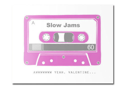 Flakes Paperie Valentine Slow Jams Card | Room 2046 Toronto Canada