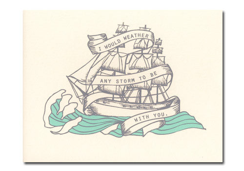 Flakes Paperie Storm Ship Love Card | Room 2046 Toronto Canada