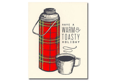 Flakes Paperie Warm & Toasty Thermos Holiday Card | Room 2046 Toronto Canada