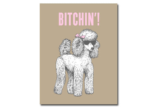 Flakes Paperie Bitchin' Poodle Card | Room 2046 Toronto Canada