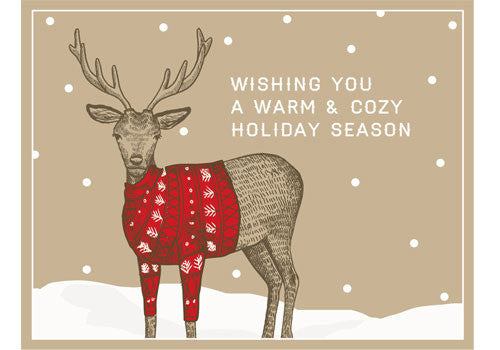 Flakes Paperie Wishing You Reindeer Card