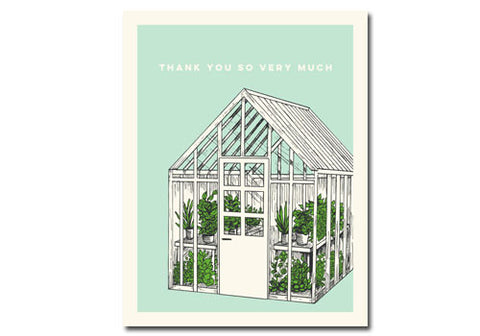 Flakes Paperie Green House Thank You Card | Room 2046 Toronto Canada