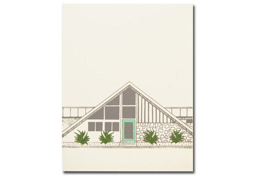 Flakes Paperie Mid-Century Modern House Card - Green | Room 2046 Toronto Canada