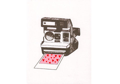 Flakes Paperie Polaroid Valentine Love Card