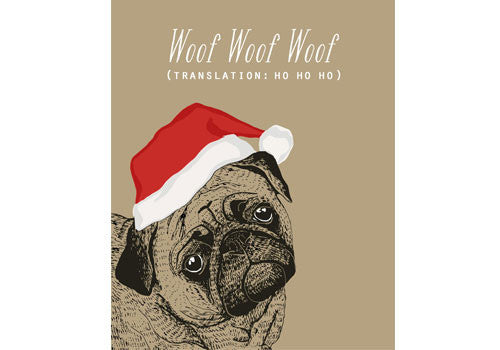 Flakes Paperie Woof Woof Woof Card