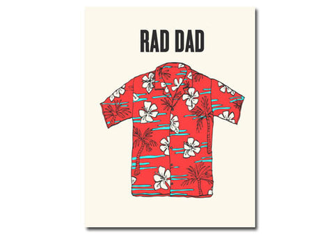 Flakes Paperie Rad Hawaiian Shirt Father's Day Card | Room 2046 Toronto Canada