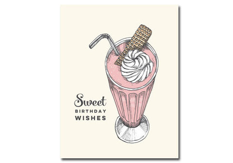 Flakes Paperie Sweet Milkshake Birthday Card | Room 2046 Toronto Canada