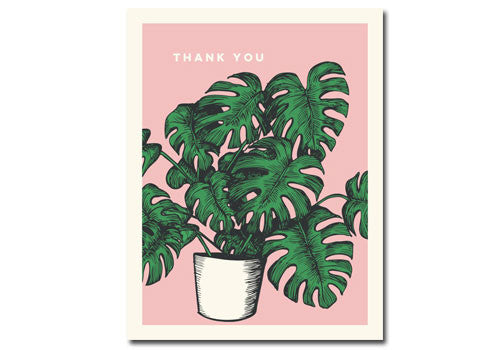 Flakes Paperie Tropical Plant Thank You Card | Room 2046 Toronto Canada