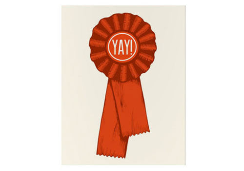 Flakes Paperie Yay Ribbon Congratulations Card