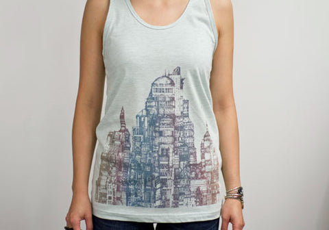 Room 2046 Flo City Mint Metallic Tank