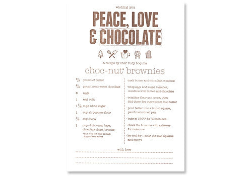 Graven Feather Peace Love and Chocolate Card | Room 2046 Toronto Canada