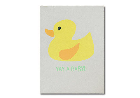 Gold Teeth Brooklyn Rubber Duck Baby Screenprinted Card | Room 2046 Toronto Canada
