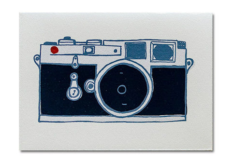 Gold Teeth Brooklyn Camera Screenprinted Card | Room 2046 Toronto Canada