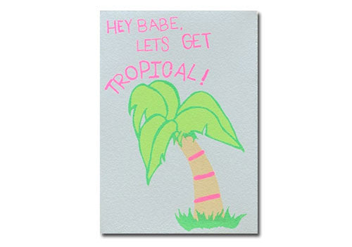 Gold Teeth Brooklyn Let's Get Tropical Screenprinted Card | Room 2046 Toronto Canada