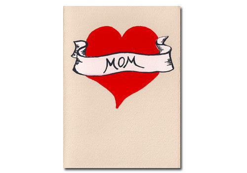 Gold Teeth Brooklyn Mom Tattoo Mother's Day Screenprinted Card | Room 2046 Toronto Canada