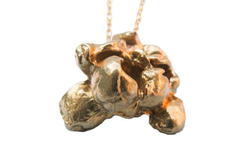Gold Teeth Brooklyn Solid Brass Popcorn Pendant Necklace | Room 2046 Toronto Canada