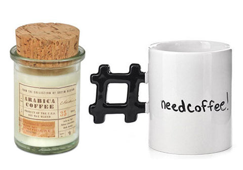 Coffee Addict Bundle: Coffee Candle + Hashtag Mug