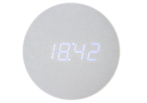 Gingko Rechargable Blue LED Aluminium Wall Click Clock | Room 2046 Toronto Canada