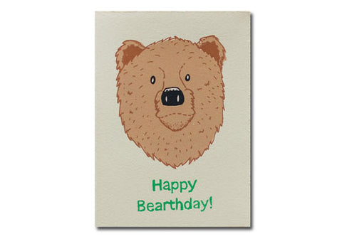 Gold Teeth Brooklyn Bearthday Birthday Screenprinted Card | Room 2046 Toronto Canada