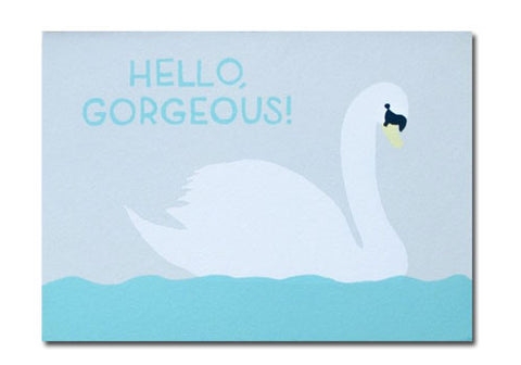 Gold Teeth Brooklyn Hello Gorgeous Screenprinted Card | Room 2046 Toronto Canada