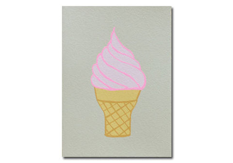 Gold Teeth Brooklyn Ice Cream Screenprinted Card | Room 2046 Toronto Canada