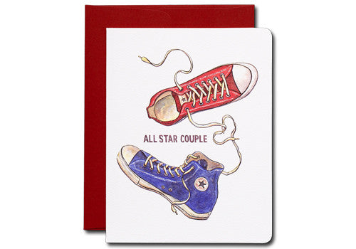Gotamago Converse All Star Sneakers Couple Greeting Card | Room 2046 Toronto Canada