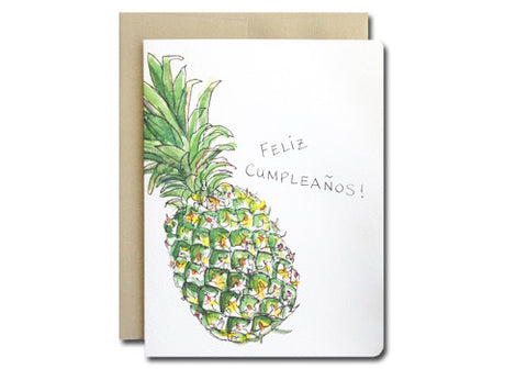Gotamago Feliz Cumpleanos Pineapple Birthday Card | Room 2046 Toronto Canada