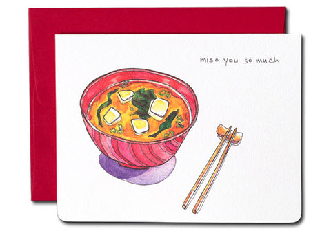 Gotamago Miso You So Much Greeting Card | Room 2046 Toronto Canada