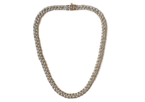 MOT Oxidized Silver Braid Necklace | Room 2046 Toronto Canada