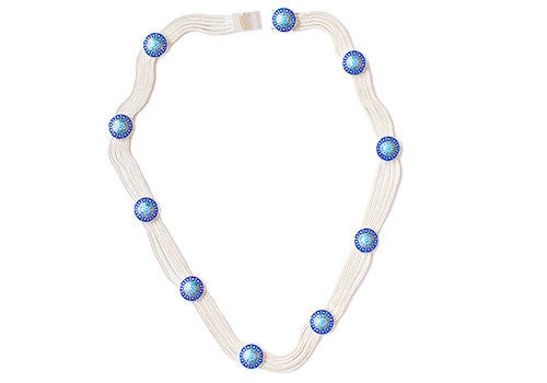 MOT Blue Flora 925 Silver Necklace | Room 2046 Toronto Canada