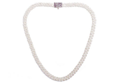 MOT 925 Silver Braid Necklace | Room 2046 Toronto Canada