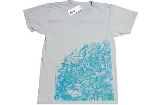 Room 2046 Power Washed K Vela Turquoise T-Shirt