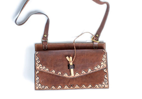 Kias Leather Handcarved Bag 62 | Room 2046 Toronto Canada