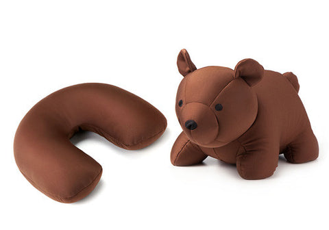 Kikkerland Zip & Flip Brown Bear Head Rest | Room 2046 Toronto Canada
