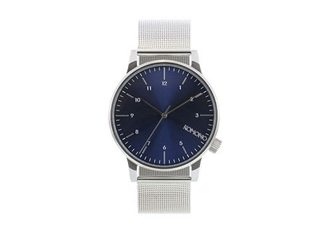 Komono Winston Royale Silver Blue Watch | Room 2046 Toronto Canada