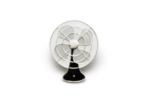 Lucky Horse Press Vintage Electric Fan Black Enamel Pin | Room 2046 Toronto Canada